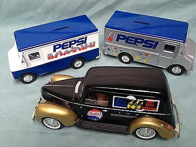 Golden Wheel Pepsi-Cola Pepsi Diecast 1940 Ford Pickup Truck Bank Key 9501 5401