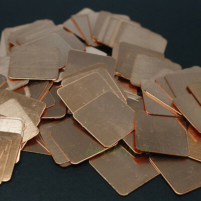 50pcs 15mm x 0.2mm Thermal Pad Copper Shim Heatsink Laptop GPU CPU Chip Cooling