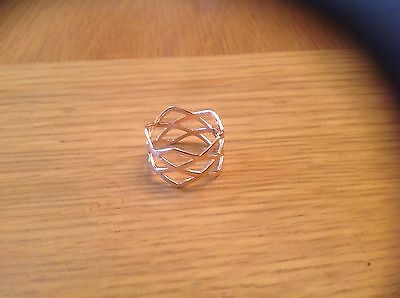 A  Very Nice Ladies ' Rose-Gold Toned' Ring  Size K.' find '