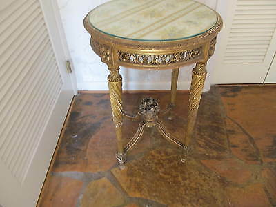 Antique Louis XV Style Gold Leaf over solid wood  table