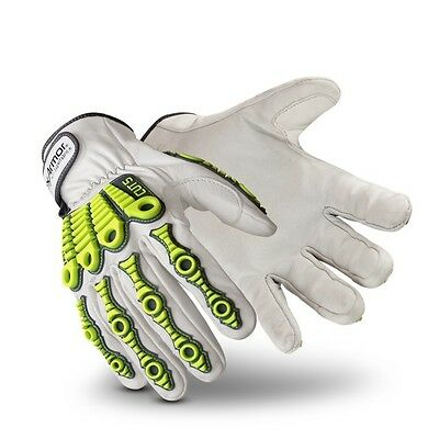 HexArmor 4080 Large 9 L Leather Impact Work Safety Cut Impact Resistant Gloves