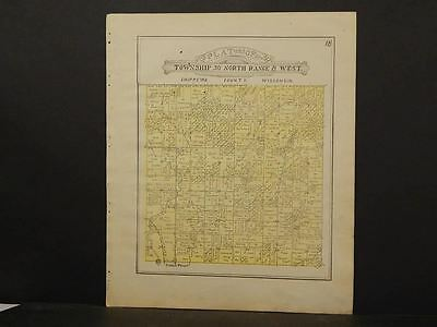 Wisconsin Chippewa County Map Eagle Point Township 1913  Y11#36