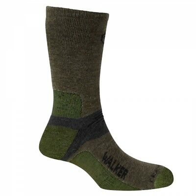 Craghoppers Womens LADIES Walking HIKE TRAVEL Padded Vented Socks - Green