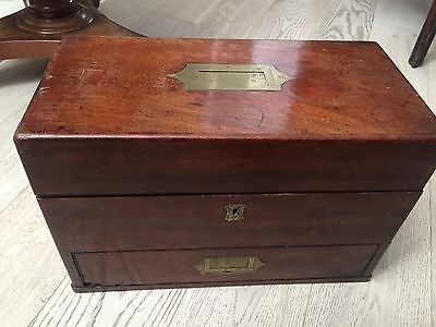 MAGNIFICENT WILLIAM IV MAHOGANY CAMPAIGN STYLE APOTHECARY CHEST c1833