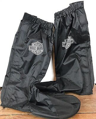 HARLEY DAVIDSON Rain Gaitor Boot Covers Black Medium Slip Resistant Water Proof