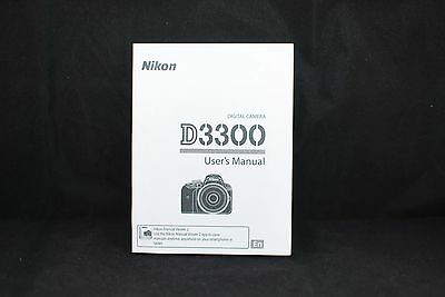 Nikon D3300 Digital Camera User's Manual Guide Book Brand New