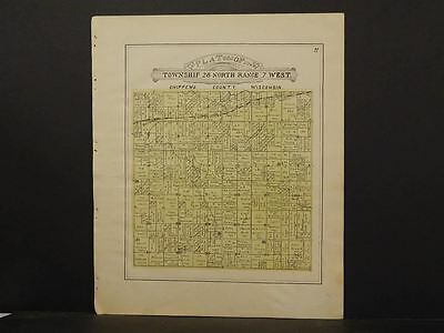 Wisconsin Chippewa County Map Siegal LaFayette Township 1913  Y11#50