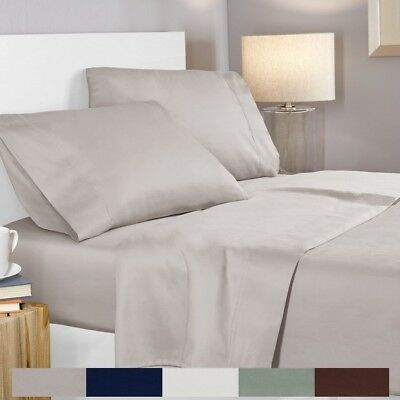 Merveilleux 100% Egyptian Cotton 400 Thread Count 4 Piece Deep Pocket Bed Sheet Set