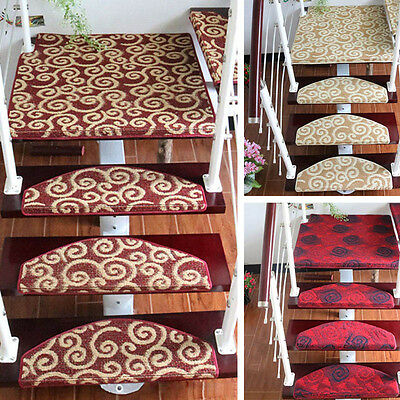 Latest Stair Mat Elegant Stair Treads Carpet Anti-Slip Step Rug Home Decor 1PC