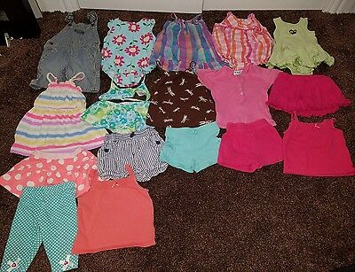 Size 18-24 Months Girls Summer Clothing Lot shorts tops