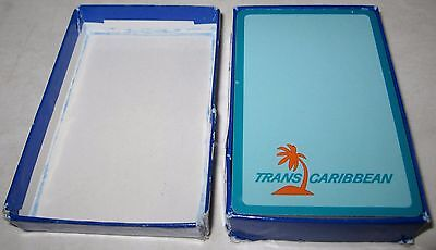"""Vintage Complete Deck of """"TRANS CARIBBEAN"""" Playing Cards with Original Box"""