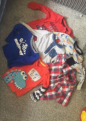 Bundle Baby Boys 6-9 Tops Including Next, Converse, Ff And George