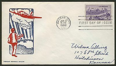#994 3c Kansas City, Missouri, Fidelity FDC **ANY 4=FREE SHIPPING**