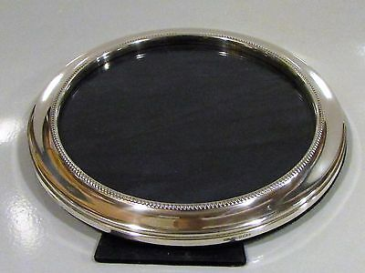 "S/Silver Round Large 8"" Frame with Gadrooned Border, Stunning Quality 2000 Hmks"