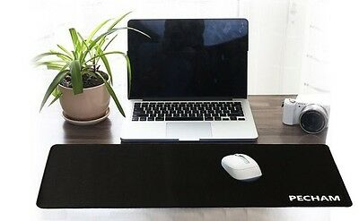 Large Gamming Mouse Pad Keyboard Base Waterproof Rubber Black by PECHAM