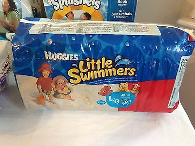 Huggies Little Swimmers Disposable Swim Pants Large 32+lb. 10 count ~ NEW!