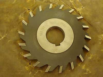 "Side Milling Cutter 4"" x 1/4"" x 1"" Arbor HSS Straight Tooth -8785EED2"