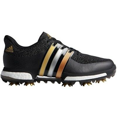 New Men'S Adidas Tour 360 Prime Boost Golf Shoes Black/gold F33487- Pick A Size