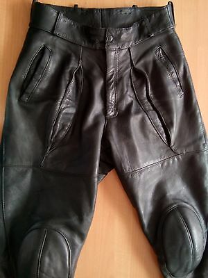 Schuh Men's Vintage 70' Motorcycle Leather Pants Size EU52