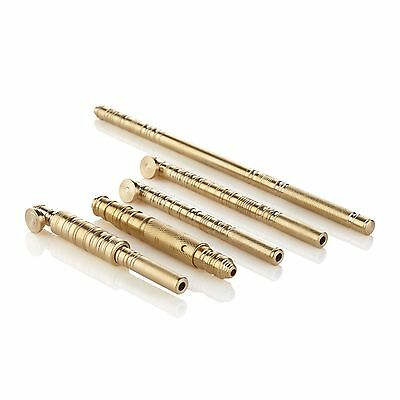 Tattoo Hand Poking Tools - Hand Crafted Brass Poking Tools with Custom Grips