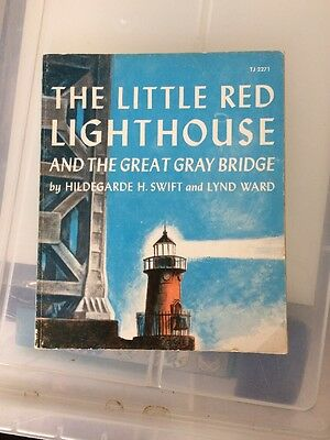 Vintage Children's Book Little Red Lighthouse And Great Gray Bridge