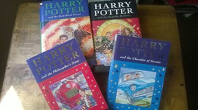 Set of 4 x Harry Potter books**First Editions**