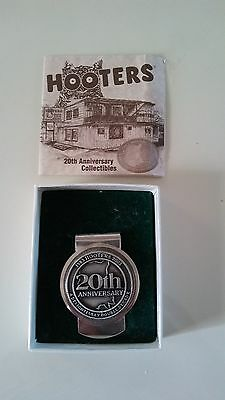 Hooters 20th. Collectible anniversary money clip