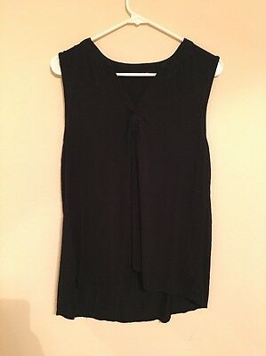 Cable & Gauge Women's Black Loose Fitting Tank Top Blouse- Size L
