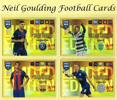 Panini FIFA 365 2016-2017 ☆☆☆☆☆ LIMITED EDITION ☆☆☆☆☆ Football Cards