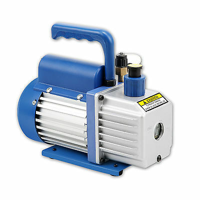 1.8CFM 1/4HP Vacuum Pump Two Stages Air Conditioning Refrigeration Gauges New