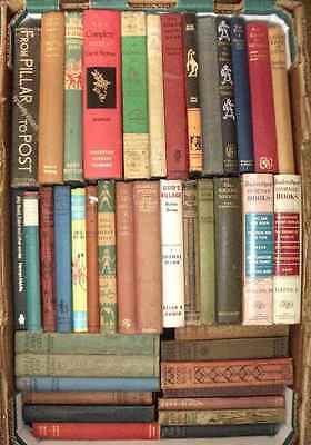 Joblot of 41 old & vintage hardcover fiction books