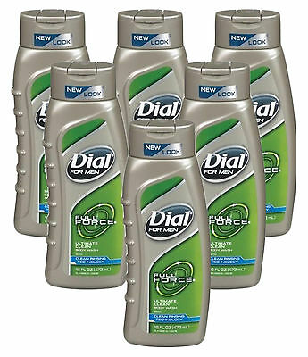 Dial for Men Ultimate Clean Body Wash, 16 Ounce (Pack of 6)