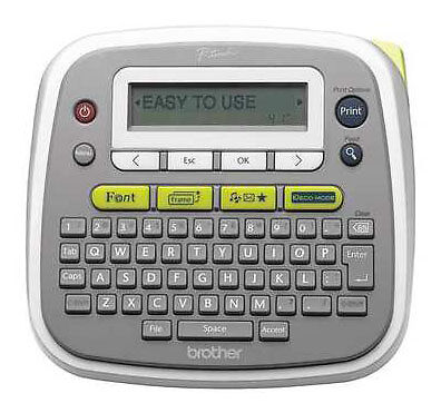 BROTHER P-Touch PT-D200 Electronic Label Maker Manager LCD Display + QWERTY