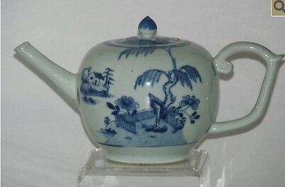 Nanking Cargo Very Rare Blue And White Teapot Circa 1750