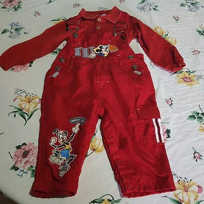Mickey & Co. Disney Baby Boy Bodysuit & Overall set 18 months red