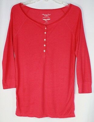 Women's M American Eagle Outfitters Orange Long Sleeve Top Shirt T-Shirt Blouse