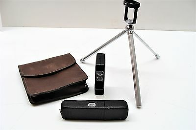 Minox LX Mini Spy Camera 1-3.5, f-15mm with Flash Tripod and Pouch Case