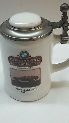 1988 BMW 750iL COLLECTORS SERIES LIMITED EDITION BMW LIDDED STEIN MUG