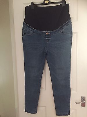 Skinny Maternity Jeans Size 16 Over Bump