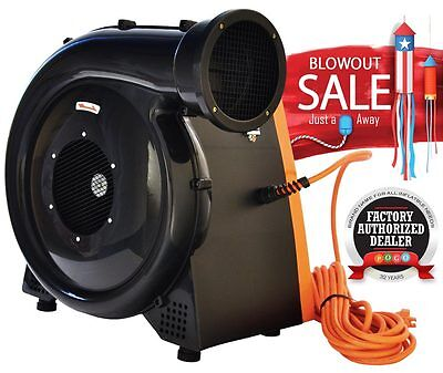 Zoom 1.5 Hp Air Blower Pump Fan 1050 CFM For Commercial Inflatable Bounce House