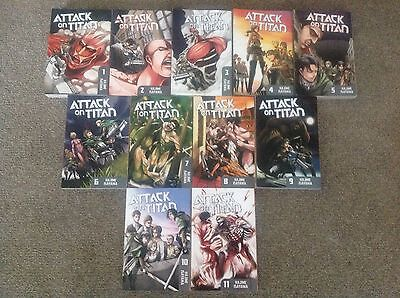 Attack On Titan Manga collection Vol 1 - 11 (English)