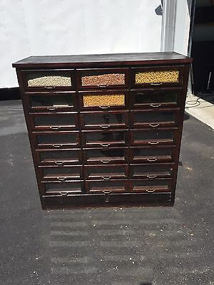 Antique Seed Cabinet 21 Drawer Circa. early 1900's General Store
