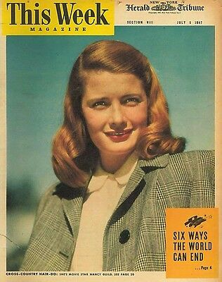 This Week Magazine July 6 1947 Nancy Guild Hollywood Hairdresser Jean Peters
