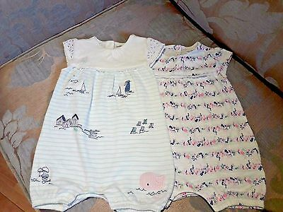 Baby girls 3-6 month set of 2 romper/playsuits from next