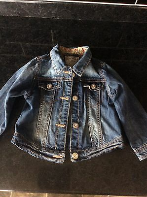Next Girls Denim Jacket Age 18-24 Months