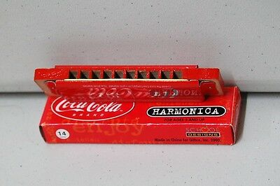 COCA COLA HARMONICAs - BOX OF 12 - WOOD AND METAL