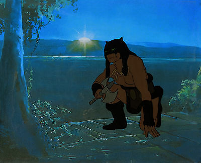 FIRE & ICE ANIMATION ART: ORIGINAL RALPH BAKSHI PRODUCTION CELS + Free Autograph