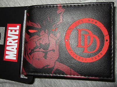 New Men's Marvel Comics Daredevil DD Symbol The Man Without Fear Bi-Fold Wallet