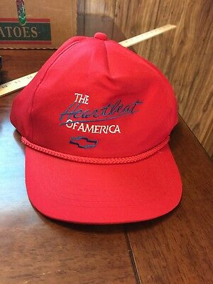 Vintage Chevy Heartbeat of America Baseball Trucker Hat Snapback  One Size
