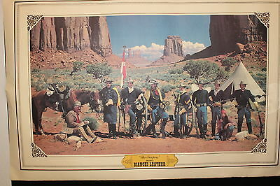 Vintage RARE 1980 advertising poster The Troopers Wear Bianchi Leather